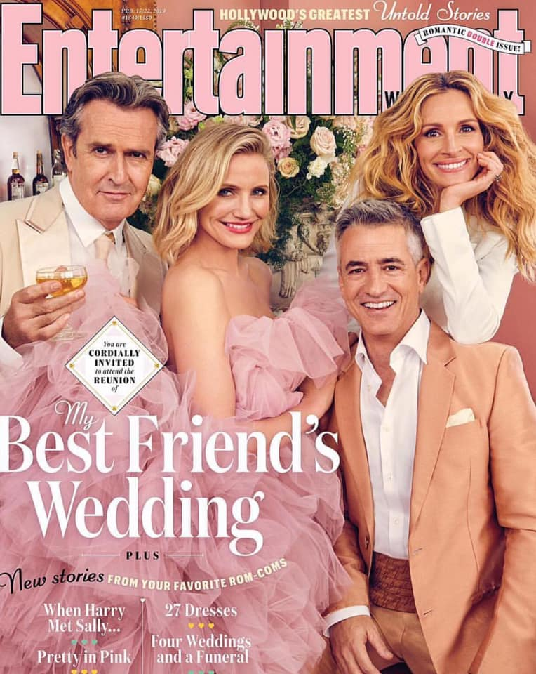 """21 წლის შემდეგ ფილმის ,,ჩემი საუკეთესო მეგობრის ქორწილი"""" გმირები ისევ შეიკრიბნენ.."""