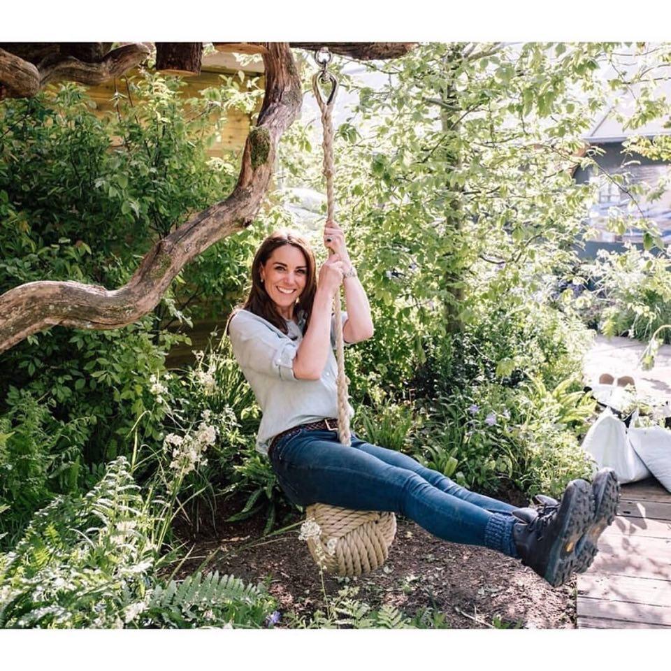 ქეით მილდტონმა ბაღის შექმნაში მონაწილეობა მიიღო...მისი მთავარი იდეა ყველას მოეწონა
